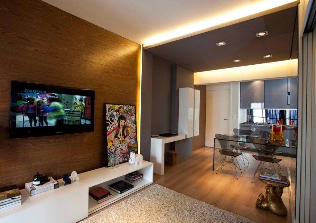 Зонирование однокомнатной квартиры декоративным освещением