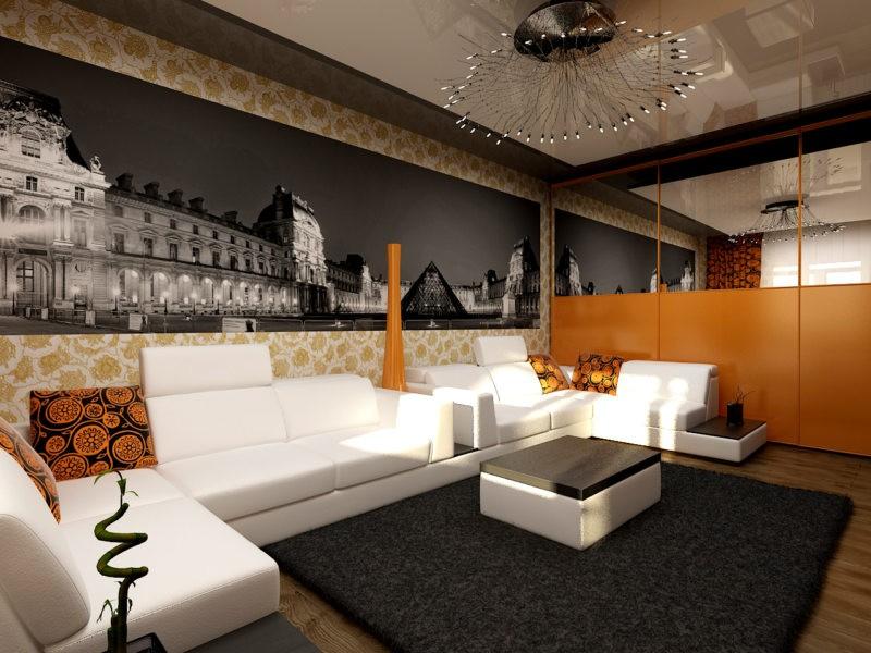 красивый декор гостиной