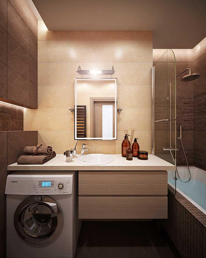 дизайн ванной 2 на 2