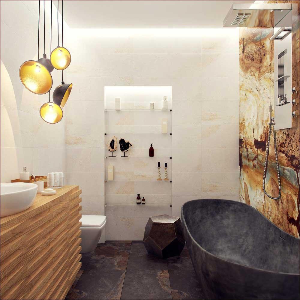 идеи дизайна ванной 4 метра