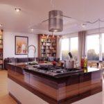 дизайн большой кухни фото идеи