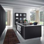 дизайн большой кухни островной гарнитур