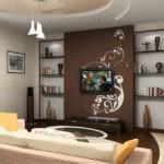 оформление и декор гостиной дизайн фото
