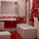 красивый дизайн ванной совмещенной с туалетом