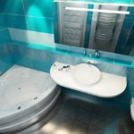 дизайн ванной совмещенной с туалетом в морском стиле