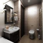 необычный дизайн ванной совмещенной с туалетом