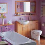 просторный дизайн ванной совмещенной с туалетом