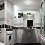 практичный дизайн ванной совмещенной с туалетом