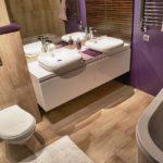 ультрасовременный дизайн ванной совмещенной с туалетом