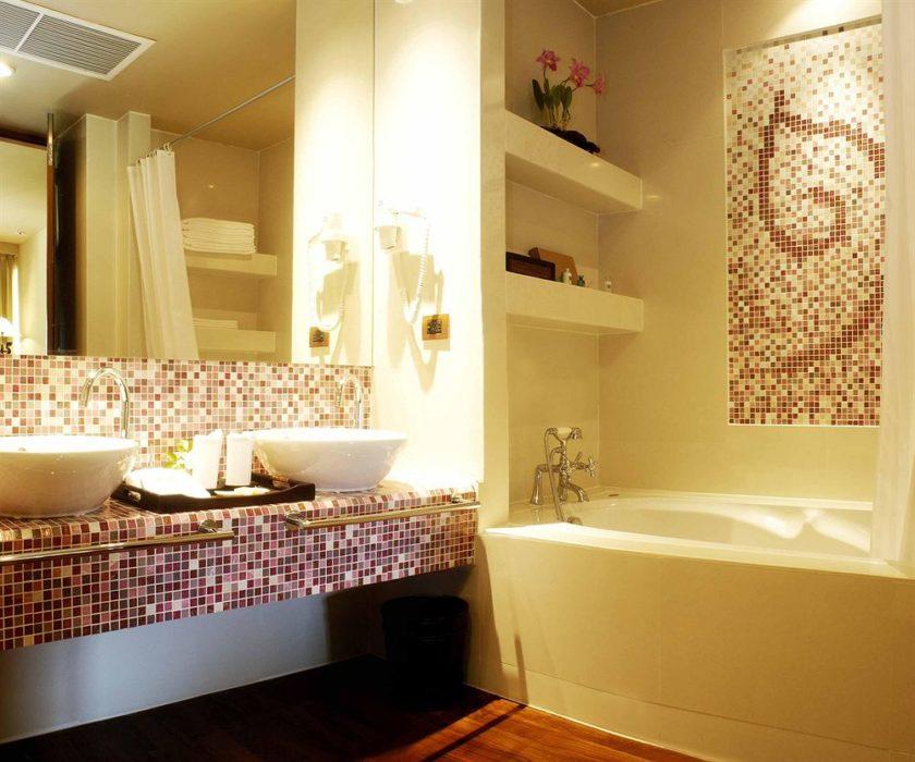 отделка мозаикой в ванной 5 кв м