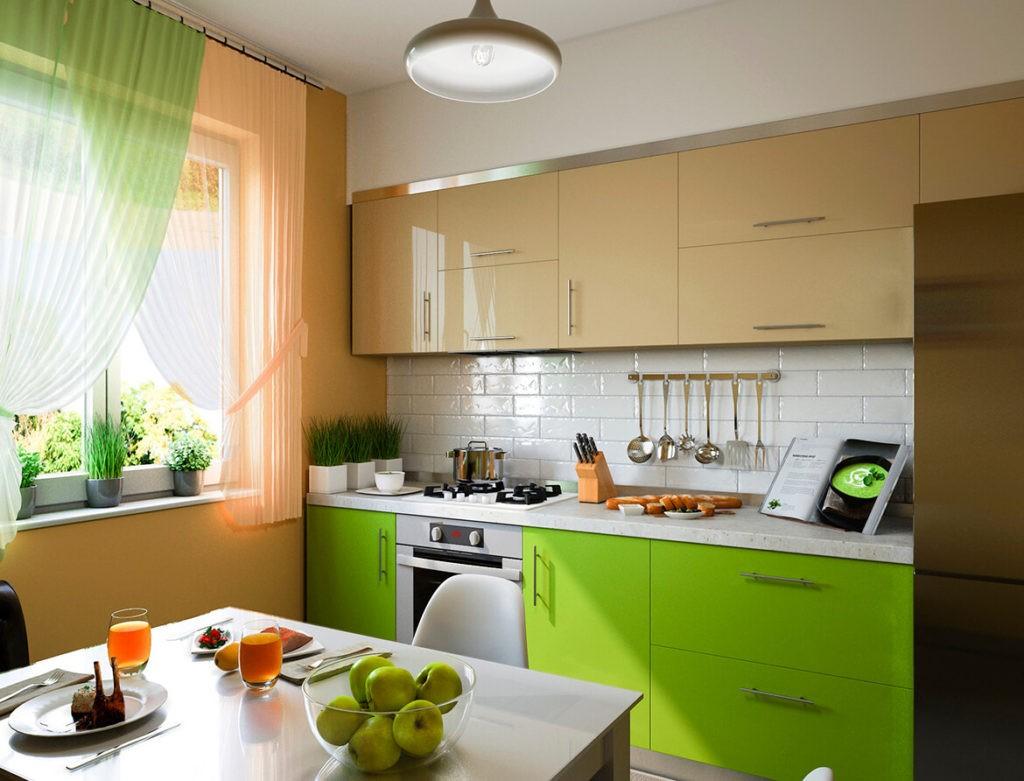 Бежевая кухня гармоничное сочетание