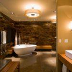 Большая ванная кафель под мрамор и гранит