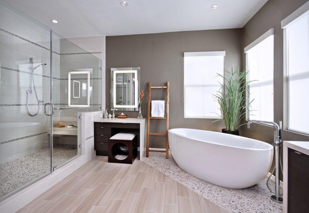 Большая ванная комната минимализм