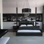 Декор спальни черно-белый хай-тек