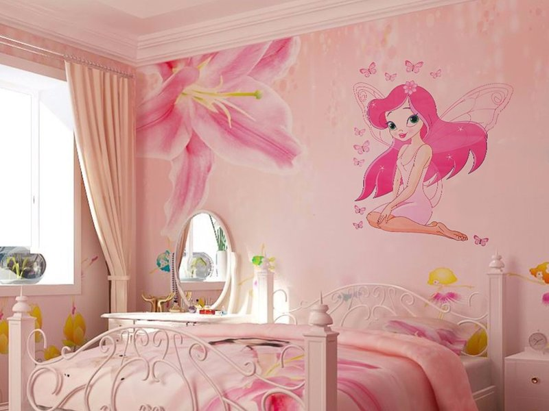 Декор спальни детские росписи на стене