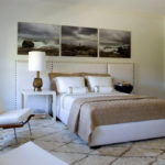 Декор спальни модульная панорама над кроватью