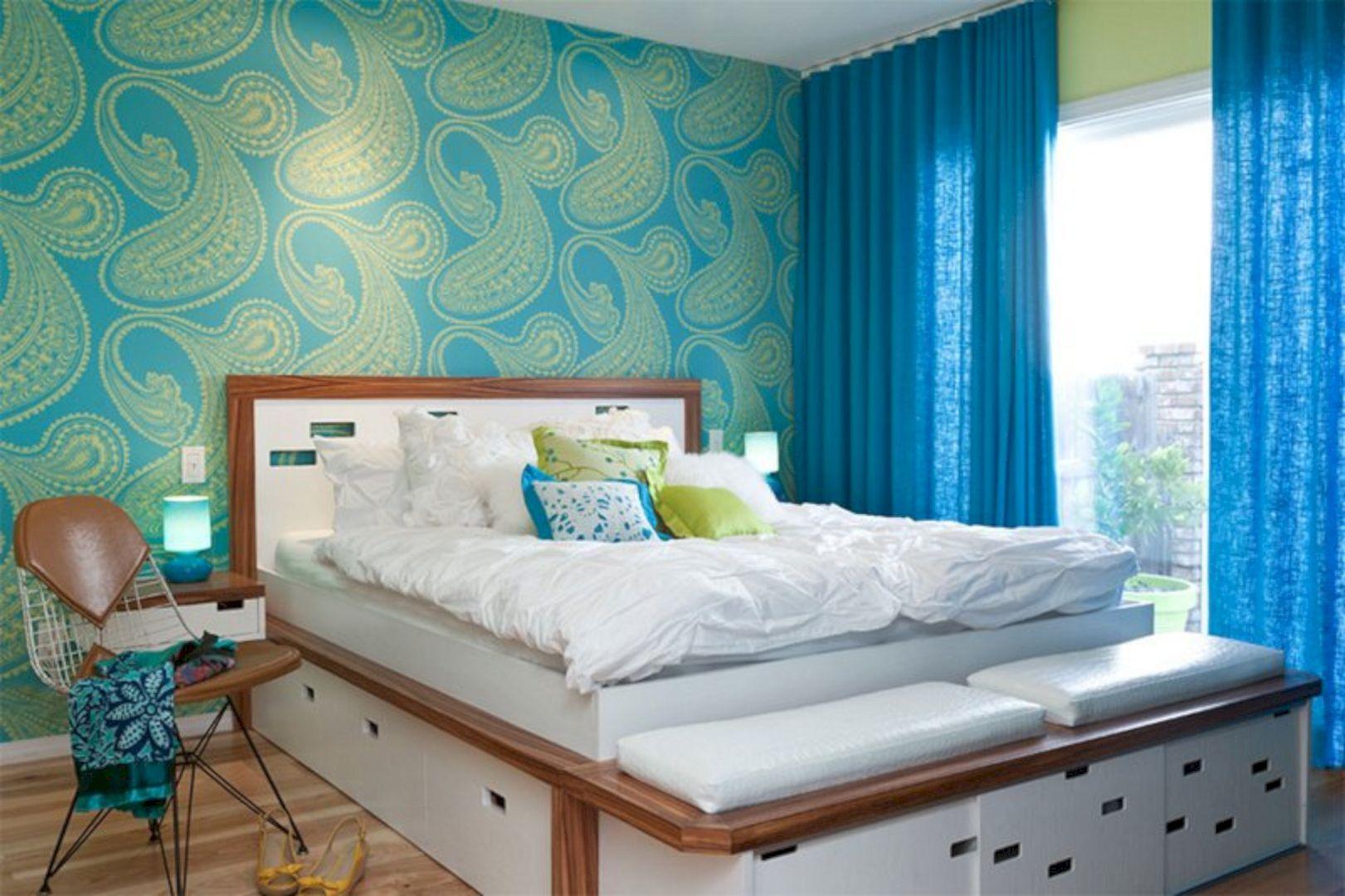 Декор спальни обои из флизелина