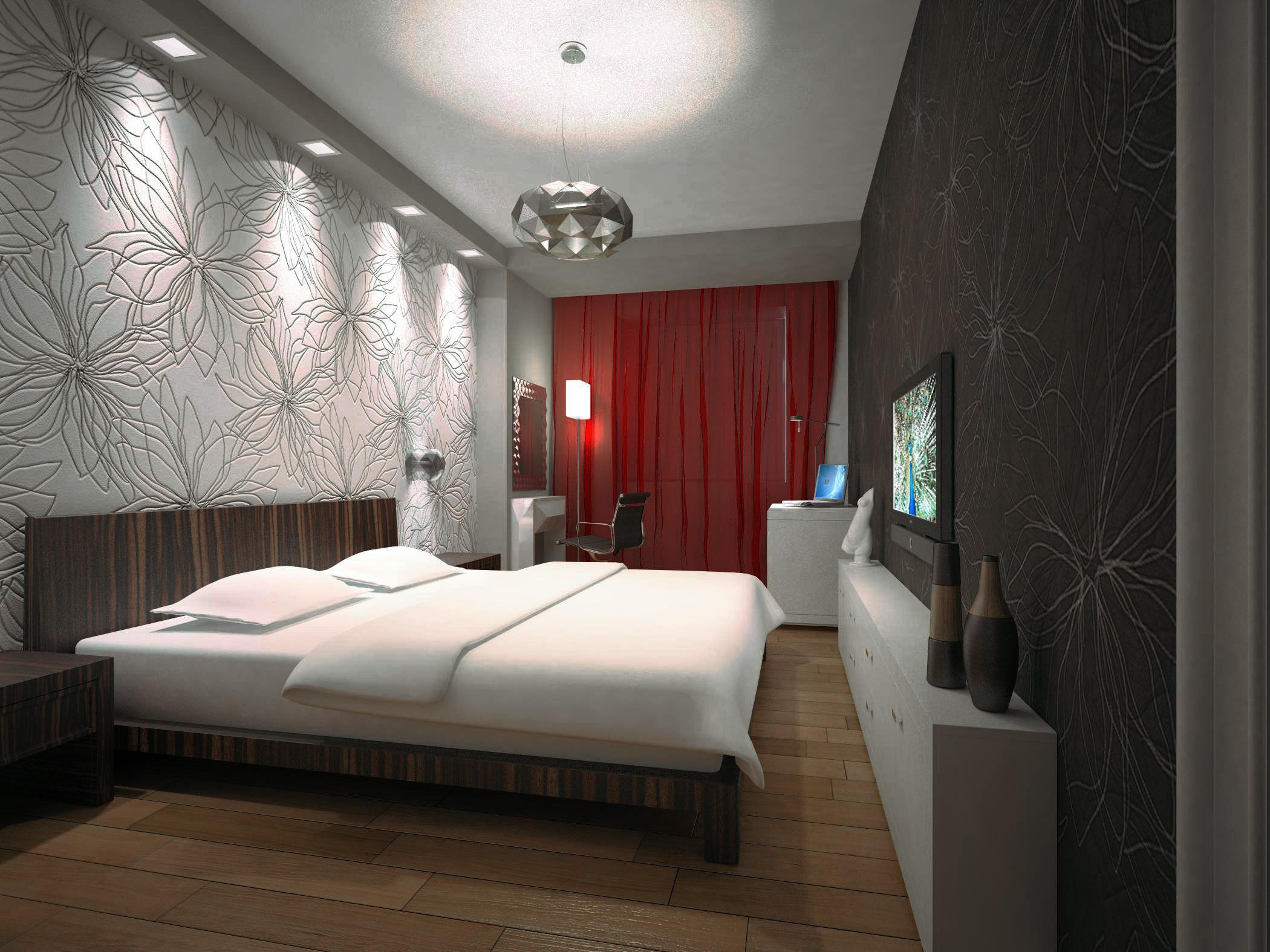 Декор спальни освещение