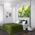 Декор спальни панель с фотообоями