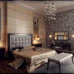 Декор спальни широкой кафельной плиткой