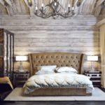 Декор спальни стиль шале