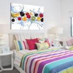Декор спальни в стиле фруктовый фреш