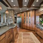 Декоративный камень на кухне эстетичный вид
