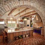 Декоративный камень на кухне камень арка рустик