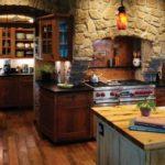 Декоративный камень на кухне стиль рустик арки из булыжника