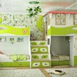 Дизайн детской комнаты для двух разнополых детей игровая зона сверху