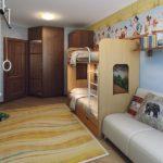 Дизайн детской комнаты для двух разнополых детей комбинированная кровать в два яруса