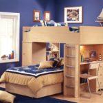 Дизайн детской комнаты для двух разнополых детей корпусная мебель