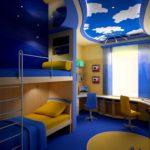 Дизайн детской комнаты для двух разнополых детей кровати в два этажа