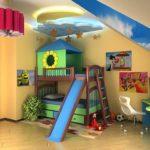 Дизайн детской комнаты для двух разнополых детей младшего возраста