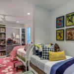 Дизайн детской комнаты для двух разнополых детей с перегородкой