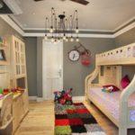 Дизайн детской комнаты для двух разнополых детей в городской квартире
