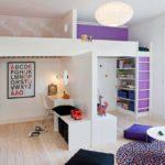 Дизайн детской комнаты для двух разнополых детей зонирование перегородкой