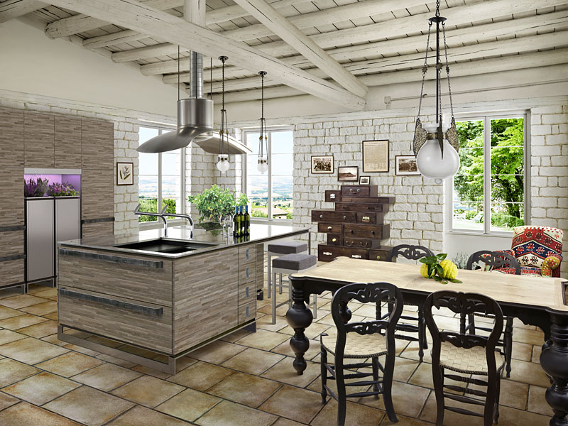 Дизайн кухни в современном стиле контемпорари сувениры