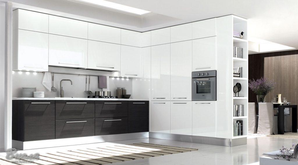 Дизайн кухни в современном стиле минимальный хай-тек