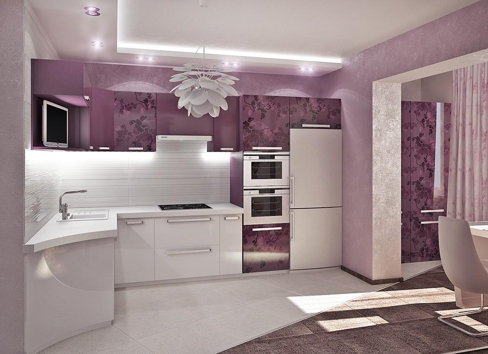 Дизайн кухни в современном стиле модерн