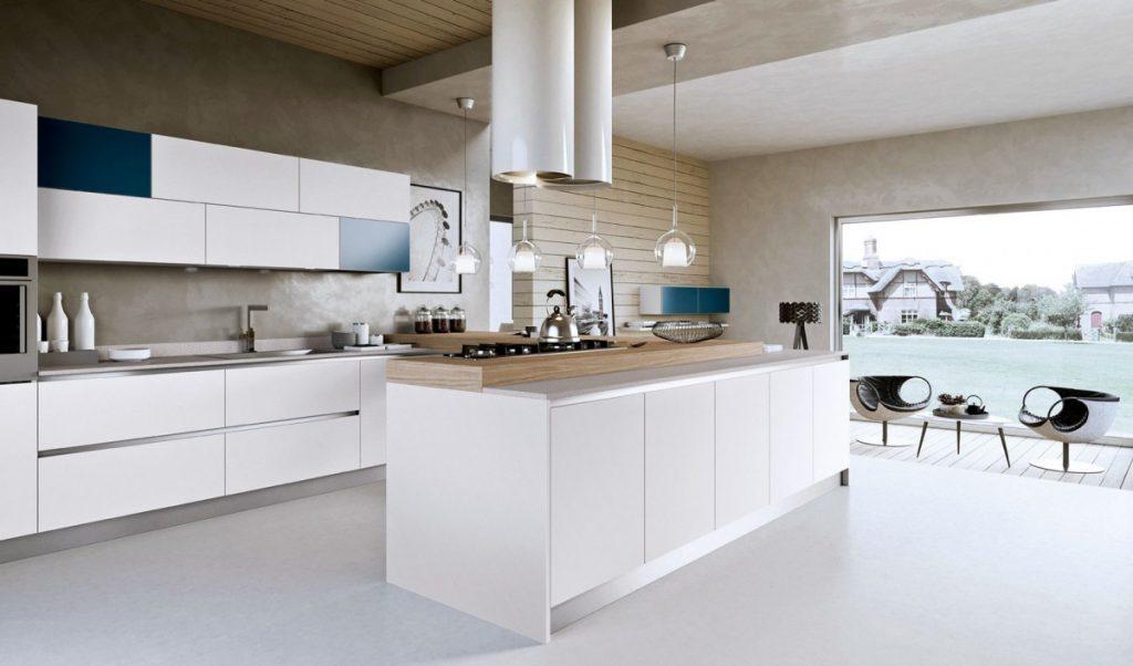 Дизайн кухни в современном стиле просторный хай-тек