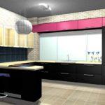 Дизайн кухни в современном стиле с декоративной плиткой