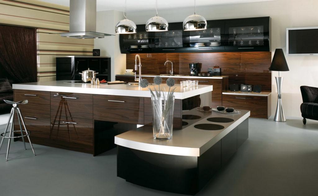 Дизайн кухни в современном стиле строгий хай-тек
