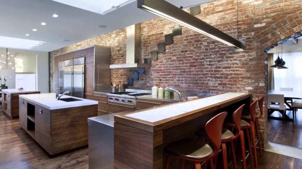 Дизайн кухни в современном стиле строгий хай-тек и лофт