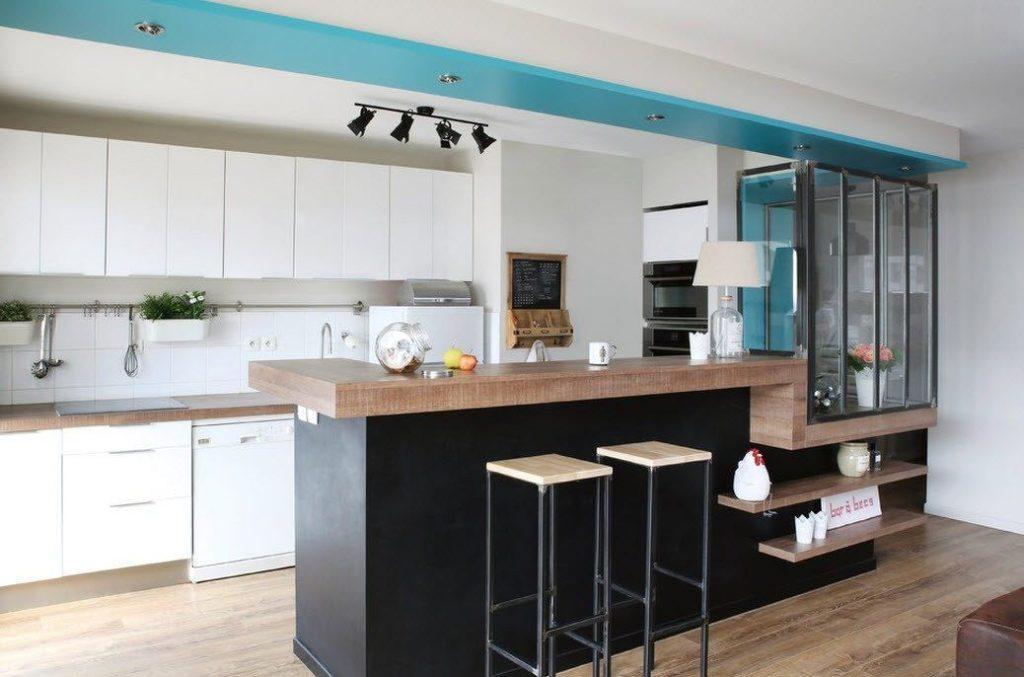 Дизайн кухни в современном стиле строгий хай-тек пластик стекло
