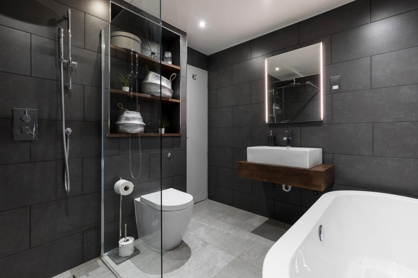 дизайн объединенной ванной с туалетом