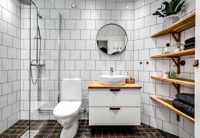 навесная полка в ванной