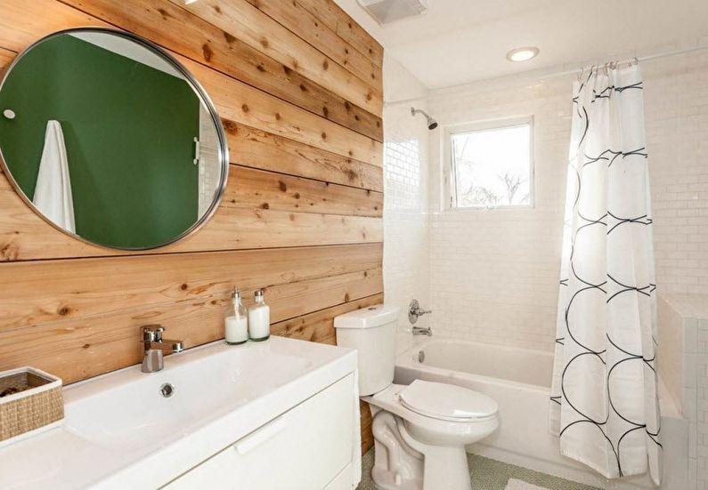 ванная 4 кв м с отделкой деревом