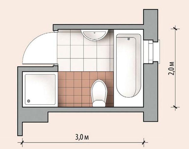 Дизайн ванной комнаты 6 кв м дизайн-проект
