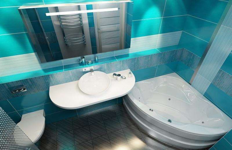Дизайн ванной комнаты 6 кв м использование цвета